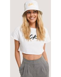 Calvin Klein Logo Bucket Hat - Weiß
