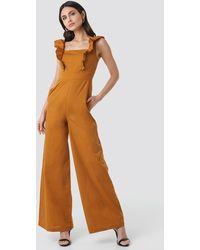 Trendyol Ruffle Detail Jumpsuit - Oranje