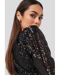 Trendyol Mini Draped Sequin Dress - Zwart