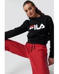 b26d471b478 Lyst - Fila Tivka Crew Sweater Black in Black