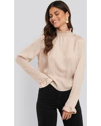 NA-KD Blouse - Naturel
