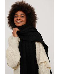 NA-KD Gebreide Sjaal - Zwart