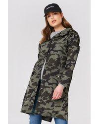 NA-KD - Camo Rain Coat Camo - Lyst