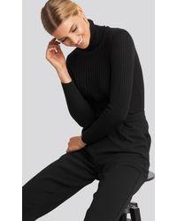 Trendyol Ribbed Turtleneck Sweater - Schwarz