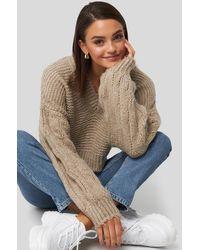 NA-KD - Gerda x Bulky Sleeve Heavy Knit Sweater - Lyst