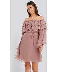 Trendyol Pink Tulum Ruffle Detail Dress
