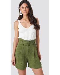 Mango Gabini Shorts Green
