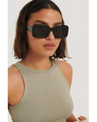 NA-KD Black Big Retro Square Sunglasses