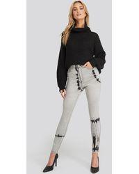 NA-KD Grey Tie Dye Skinny Jeans