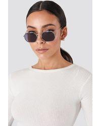 NA-KD - Octagon Sunglasses Black - Lyst