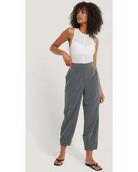 NA-KD Gray Darted Suit Pants