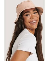 NA-KD Pink Faux Leather Bucket Hat