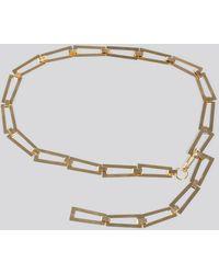 NA-KD Accessories Squared Chain Belt - Mettallic