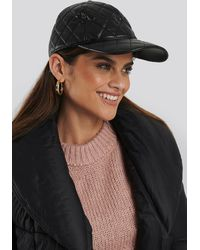 NA-KD Accessories Quilted Baseball Cap - Schwarz