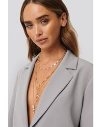 NA-KD Gold Sea Detailed Layered Necklace - Metallic