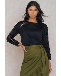 Glamorous - Sleeve Detail Sweatshirt - Lyst