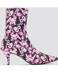 NA-KD - Kitten Heel Sock Boot - Lyst