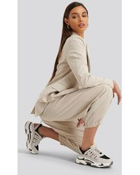 NA-KD Cut Out Chunky Trainers - Naturel