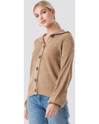 NA-KD - Hood Knitted Sweater - Lyst