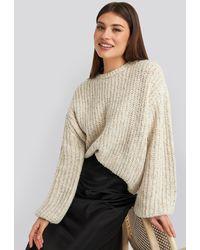 NA-KD - Trend Balloon Sleeve Melange Sweater - Lyst