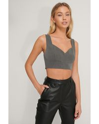 NA-KD - Cropped Bustier-top - Lyst