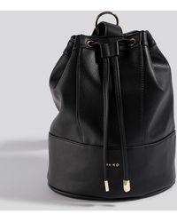 NA-KD One Strap Bucket Bag - Zwart