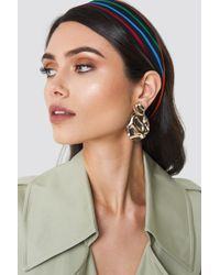 NA-KD - Structured Drop Back Earring - Lyst