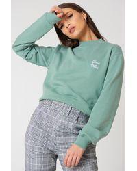NA-KD - Good Vibes Sweatshirt Duck Green - Lyst
