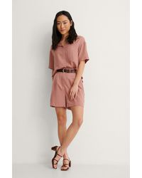NA-KD Reborn Entspannt Shorts - Pink