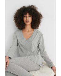 NA-KD Lingerie Loungewear Cotton Set - Grijs