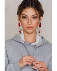 NA-KD - Big Rhinestone Drop Earrings - Lyst