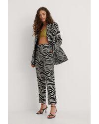 NA-KD Trend Zebra-Hose - Schwarz