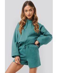 NA-KD Green Loose Fit Jersey Shorts