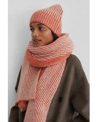 NA-KD Accessories Gebreide Sjaal - Oranje