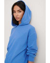 NA-KD Organisch Hoodie - Blauw