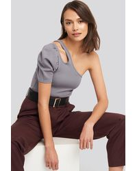 NA-KD - Trend Cut Out One Shoulder Top - Lyst