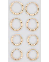 NA-KD Mini Hoop Earring Set Gold - Metallic