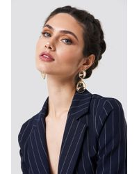 NA-KD - Structured Edge Hanging Earrings - Lyst