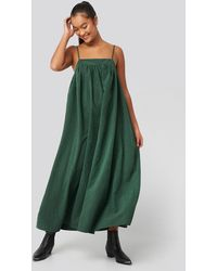 NA-KD - Trend Thin Strap Volume Midi Dress - Lyst