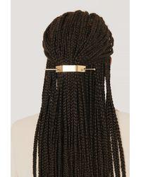 NA-KD Gold Graphic Hair Pin - Metallic