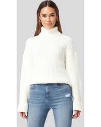 NA-KD Ribbed Knitted Turtleneck Sweater - Meerkleurig