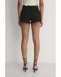 NA-KD Organisch Shorts Met Middelhoge Taille - Zwart