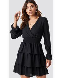 Trendyol Frilly Midi Dress - Zwart