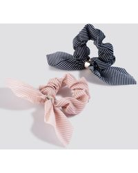 NA-KD 2-pack Bow Scrunchies - Multicolore