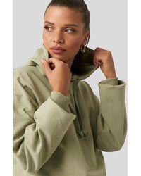 NA-KD Basic Hoodie - Groen
