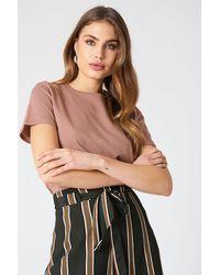 NA-KD Basic Basic T-Shirt - Pink