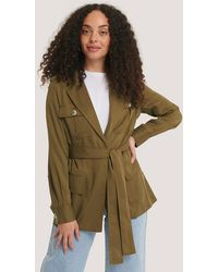 Mango Green Ken Trench Coat