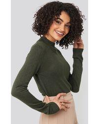 Trendyol Green Turtleneck Knitted Top
