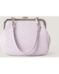 NA-KD Accessories Ostrich Look Clasp Bag - Paars