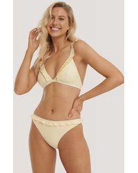 NA-KD - Swimwear Bikinihöschen Mit Gerüschtem Saum - Lyst